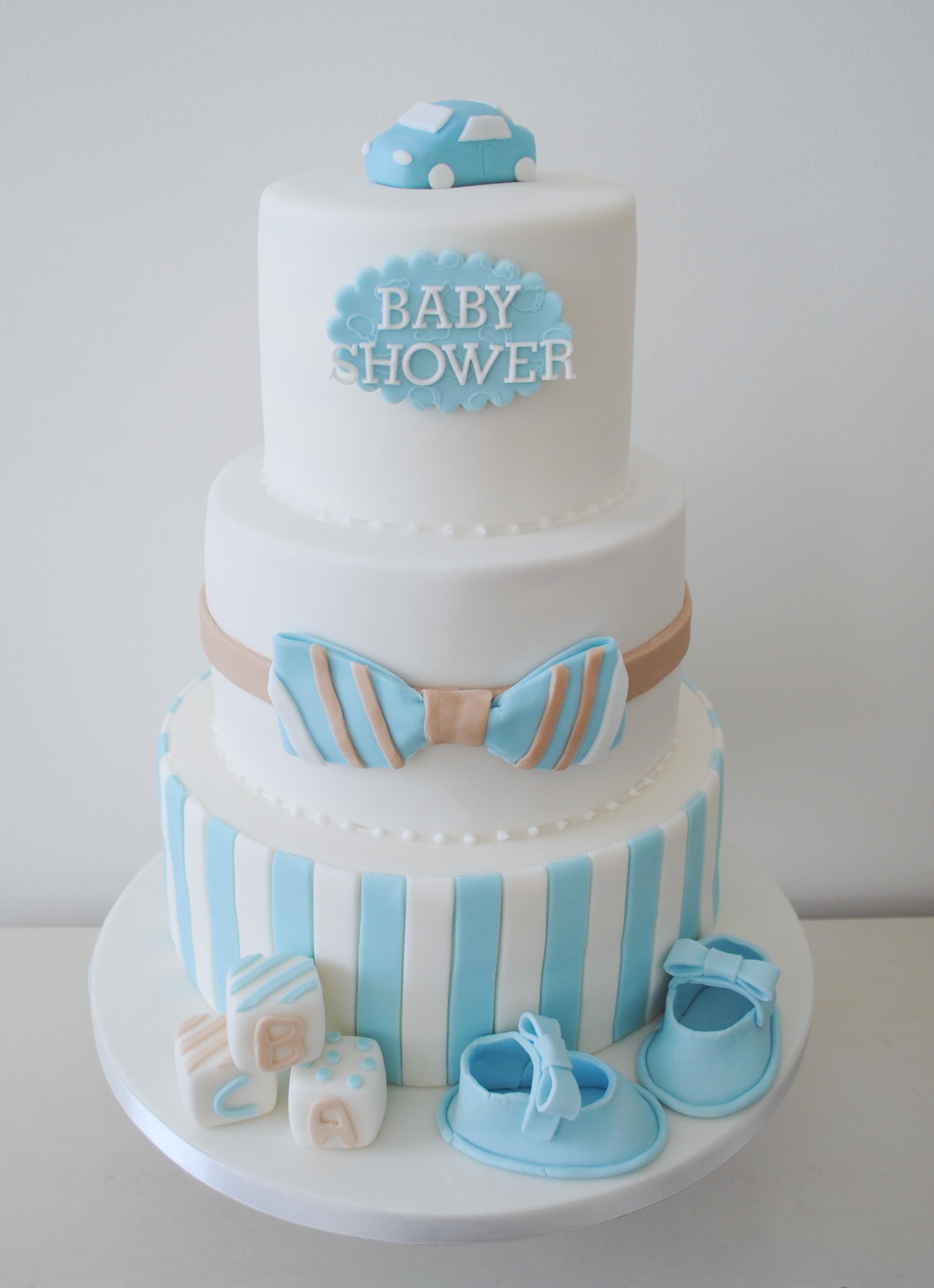 3 tiered baby shower cake