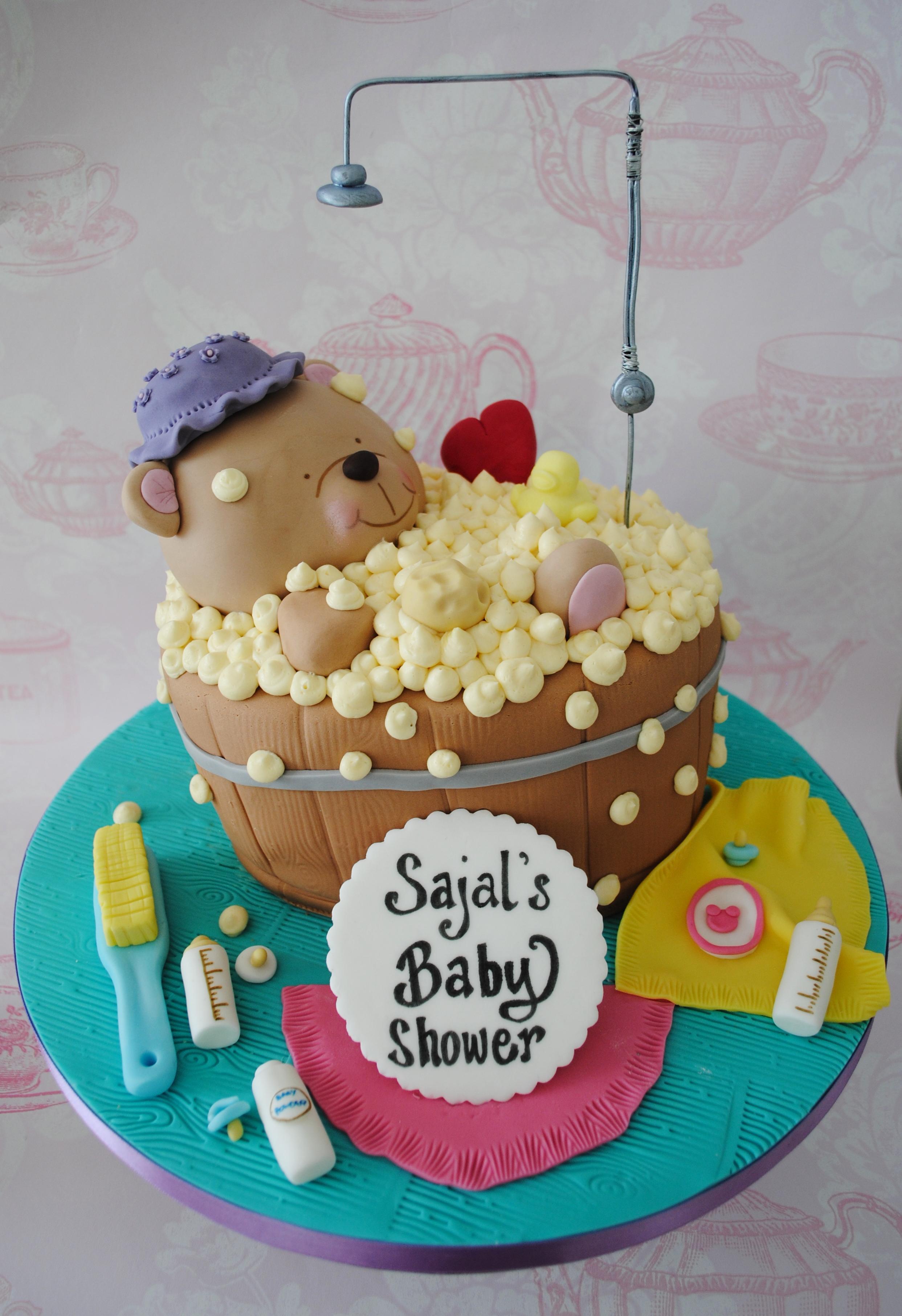 Forever friends bath baby shower cake