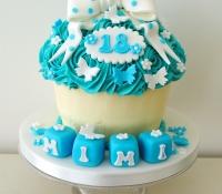 18th birthday giant cupcake cake
