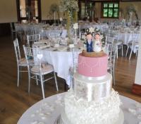 3 Tiered chic ruffles wedding cake