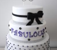 3 Tiered 50th Birthday Cake