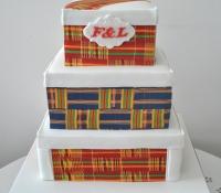 African pattern cake