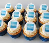 Amex logo cupcakes
