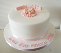 Baby welcome cake