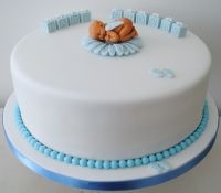 Boy baby shower celebration cake