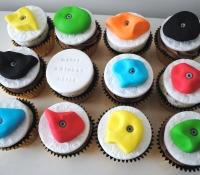 Climbing themed cupcakes