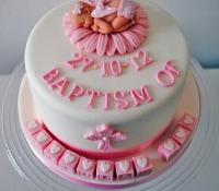Girls baptism top cake
