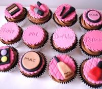 Mac make up girl birthday cupcakes