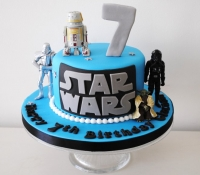 Star wars figure character cake