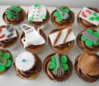 Chef inspired birthday cupcakes