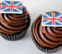 GB Flag cupcakes