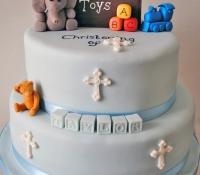 Toy box christening cake