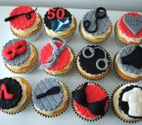 Fifty shades of grey cupcakes
