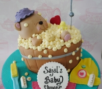 Forever friends bath baby shower cake