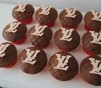 Louis Vuitton logo birthday cupcakes