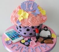 Mac iphone chanel bag 17th birthday giant cupcake