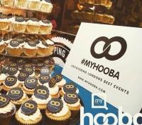 Myhooba corporate logo cupcakes
