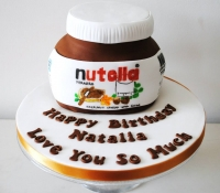 Nutella jar birthday cake