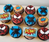Spiderman marvel birthday cupcakes