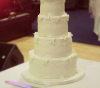 Talin 4 tiered wedding cake