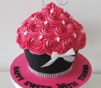 Sweet 16th birthday giant cupcake