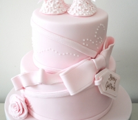 Tiered booty baby shower cake