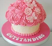 Pink birthday giant cupcake