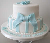 2 tiered boy christening cake