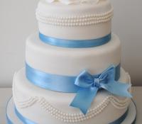 Boy 3 tiered christening cake
