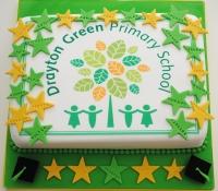 School logo leaving cake