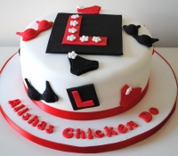 L plate hen night cake