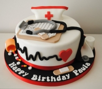 Doctor and nurse birthday cake