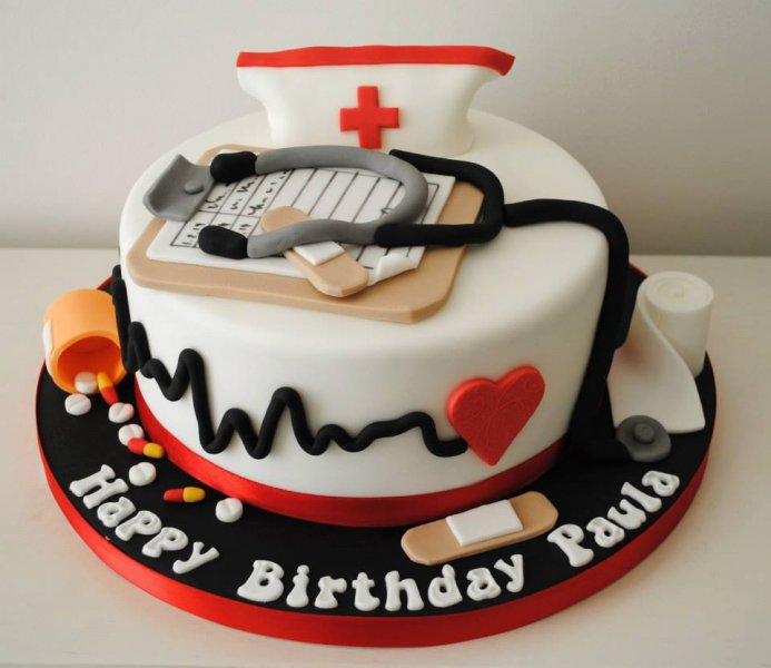 21st Birthday Cake For A Nurse Image Inspiration of Cake and