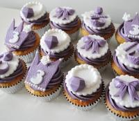 lilac birthday cupcakes