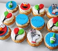 Elmo and Lady and the Tramp Cupcakes