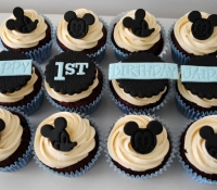 Mickey Mouse Birthday Cupcakes