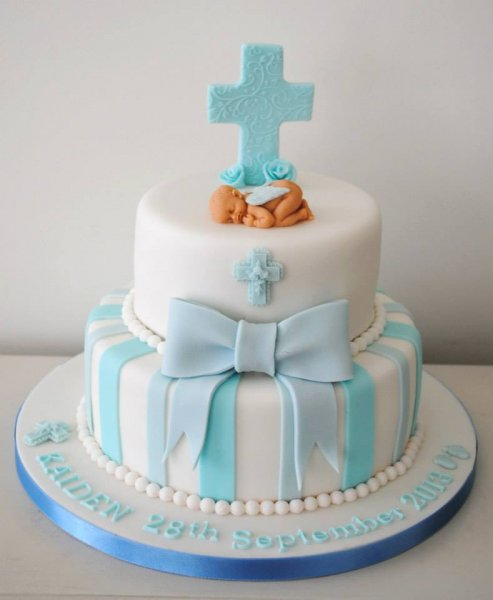 2-tier-christening-cake