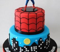 2-tiered-spiderman-birthday-cake