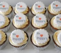 We love poppys logo cupcakes
