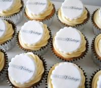 Long Live Vintage shop logo cupcakes