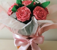 Pink Rose Cupcake Bouquet