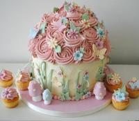Vintage Fairy Giant Cupcake