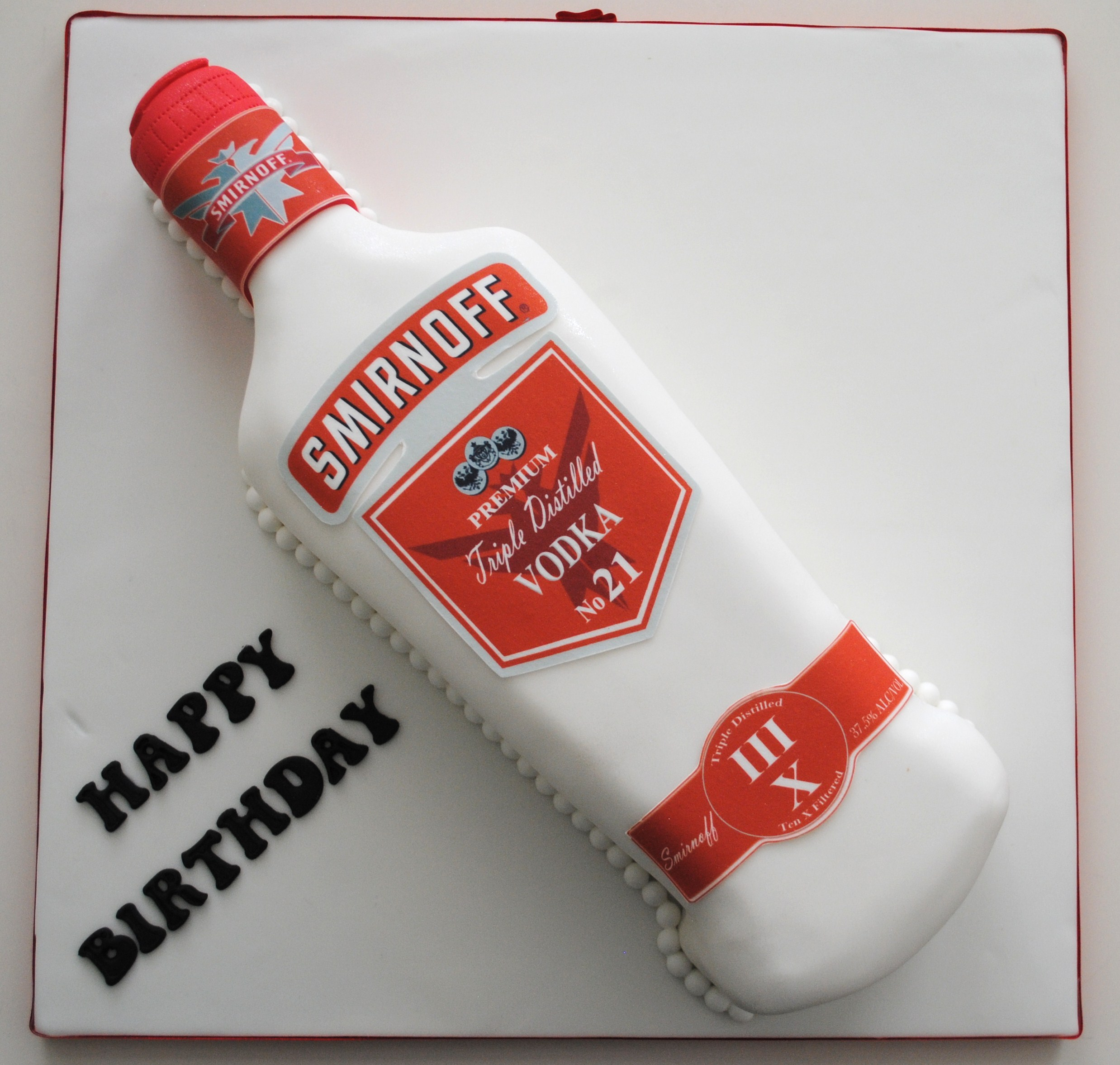 Miss Cupcakes 187 Blog Archive 187 Smirnoff Vodka Bottle Cake