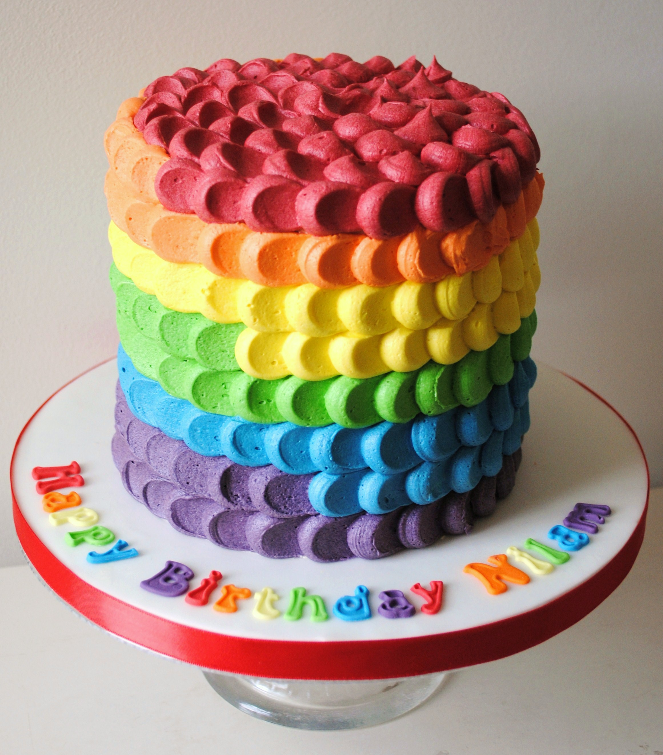 Miss Cupcakes 187 Blog Archive 187 Rainbow Ombre Celebration Cake