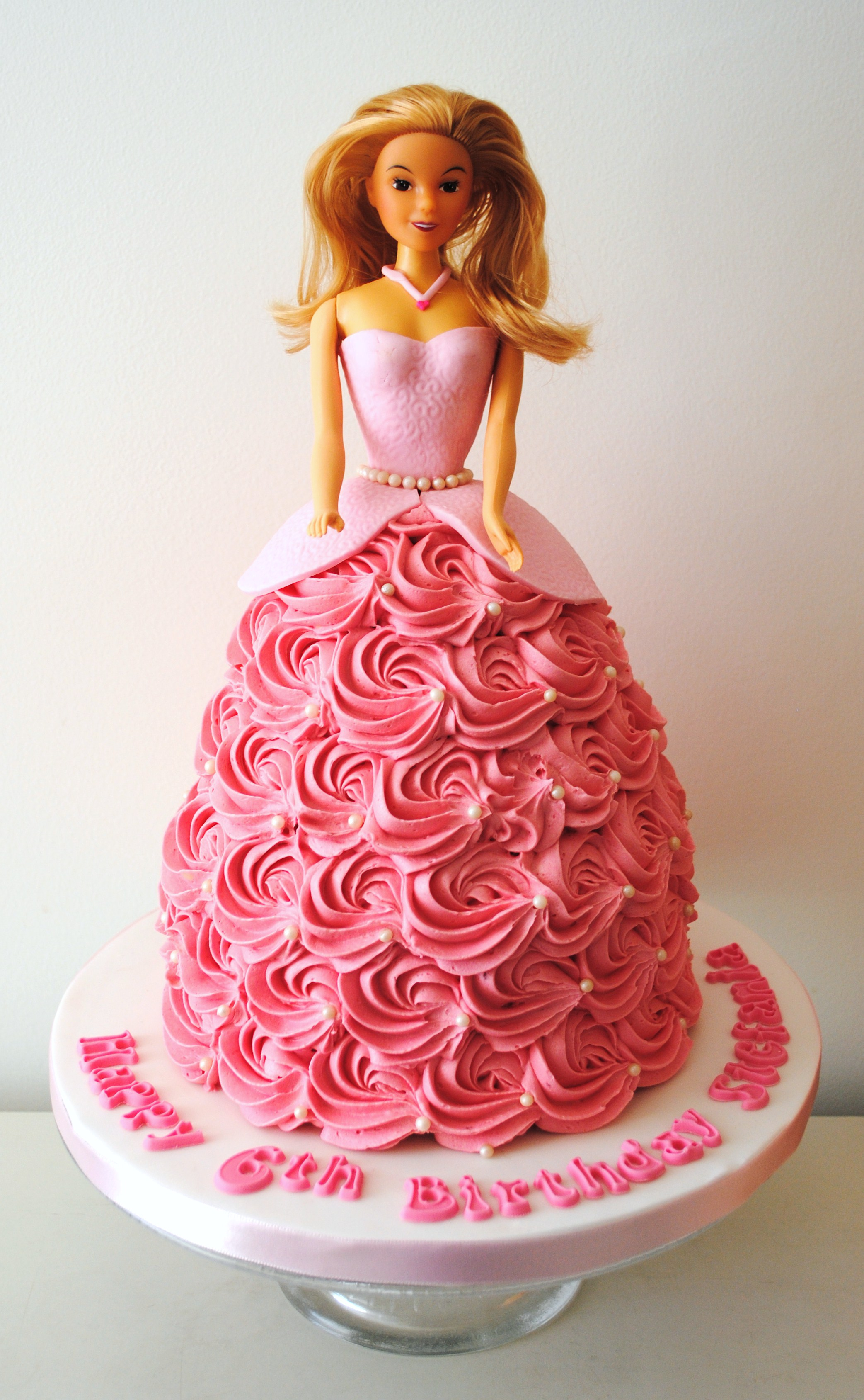Miss Cupcakes» Blog Archive » Barbie doll dress Birthday cake