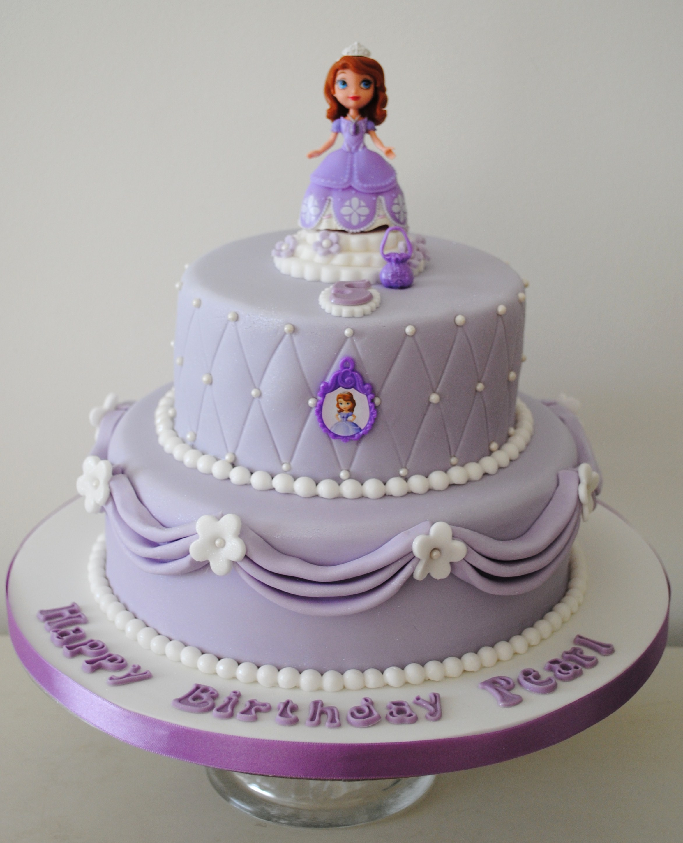 Cake Images Sofia : Miss Cupcakes  Blog Archive   2 tiered Sofia the First ...