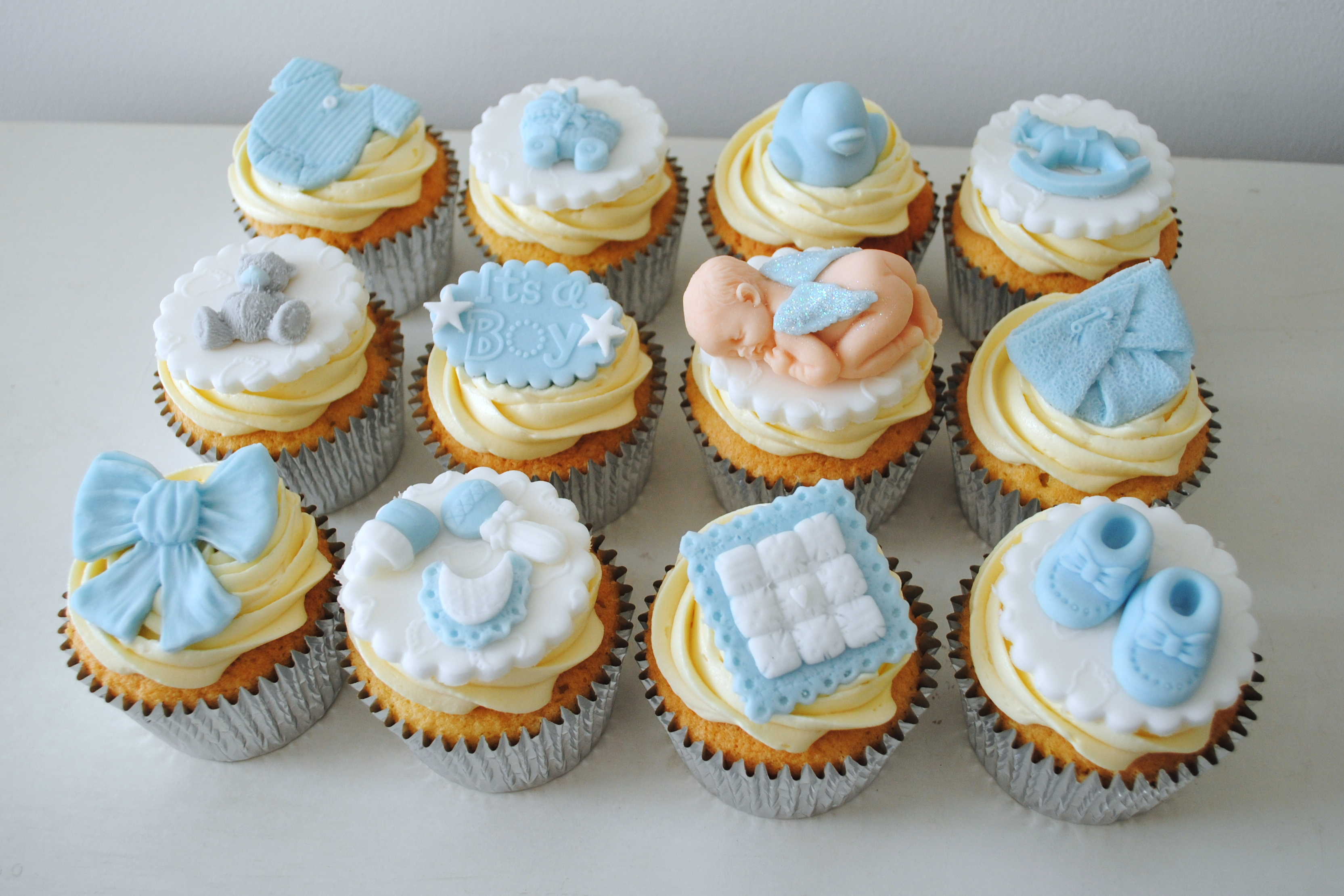 Boy Baby Shower cupcakes ...