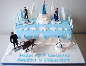 Disney Frozen Elsa Childrens Novelty Birthday Cake