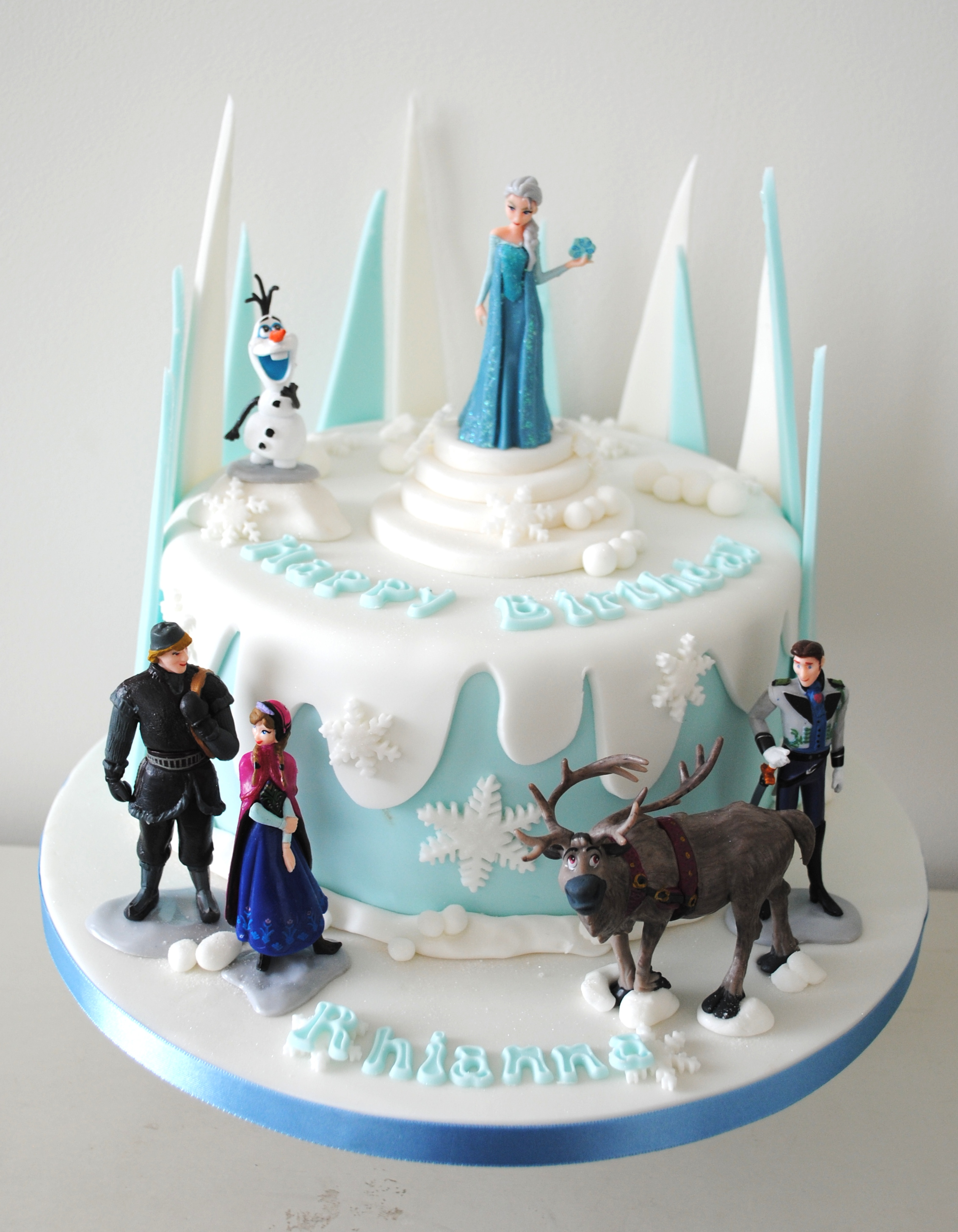 frozen themed birthday cake more frozen themed birthday cake frozen ...