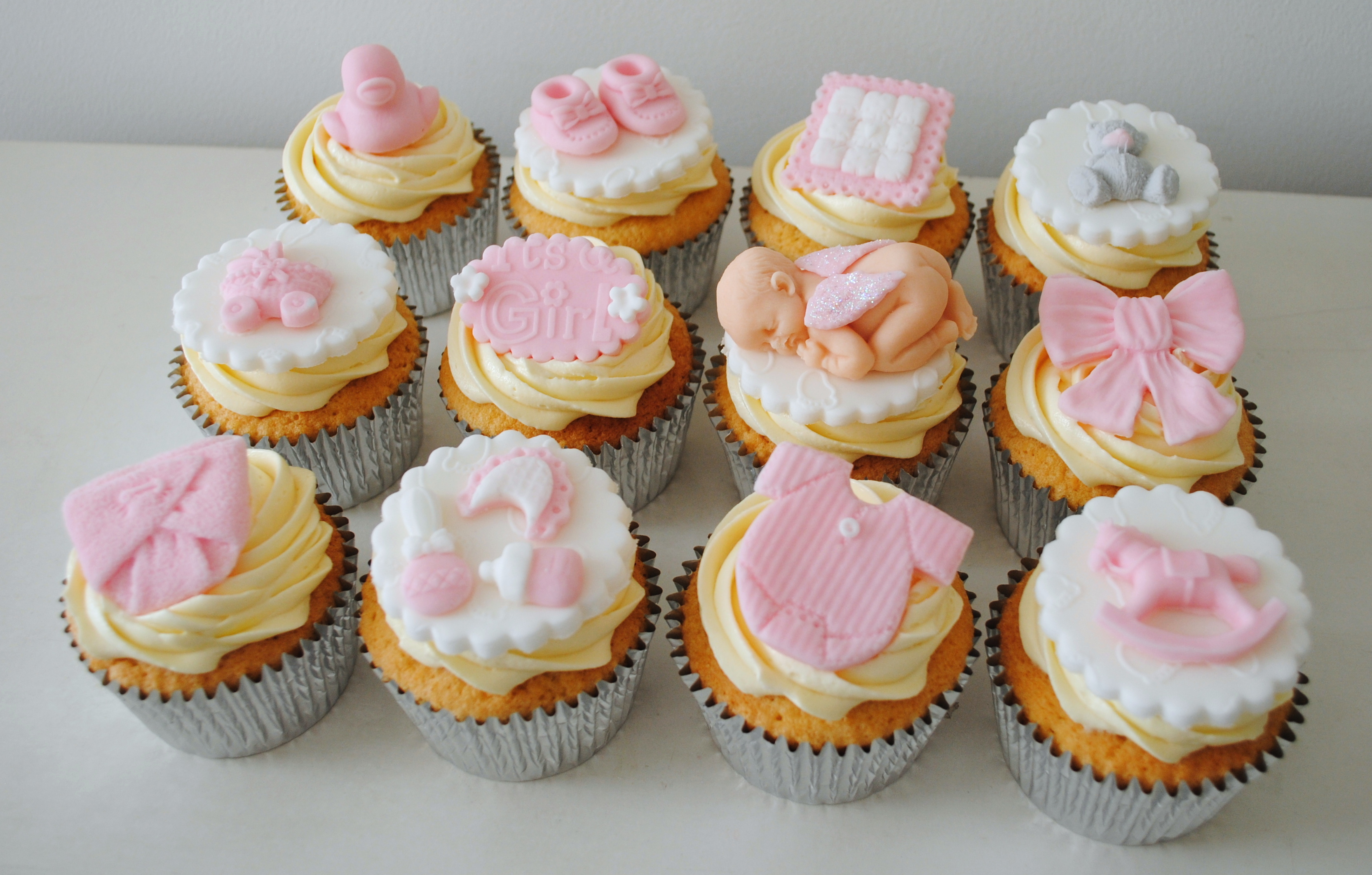 Pink Baby Shower Cupcakes : Miss Cupcakes  Blog Archive   Girl Baby Shower Cupcakes (12)